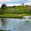 A view over the water of hole #13 at Goose Creek Golf Club
