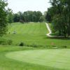 A view of green #15 at Mount Pleasant Golf Club