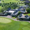 Aerial view of the clubhouse at Water's Edge Country Club