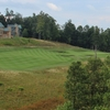 The 10th fairway of the Highland golf course climbs to a green visible from The Lodge at Primland in Meadows of Dan, Virginia.