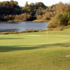 A view of a green with water coming into play at Red Wing Lake Golf Course