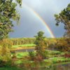 Rainbow over the course at Chesapeake Bay Golf Club at North East