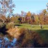 A fall view of the 16th fairway at Fairway Hills Golf Club