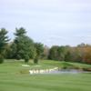 A view of hole #4 with water coming into play at Montgomery Country Club