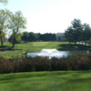 A view over the water of the 7th fairway at United States Naval Academy Golf Club
