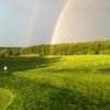 A rainbow over the driving range at Little Bennett Golf Course