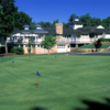 A view of the clubhouse and the putting green at Waterfront Country Club