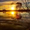 Sunset view from Heron Ridge Golf Club