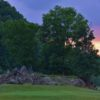 A view of a tee from Pete Dye River Course of Virginia Tech