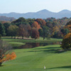 A fall day view from Roanoke Country Club