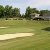 A view of a hole protected by bunkers at Wicomico Shores Golf Course