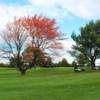 A fall day view of a green at Winchester Country Club