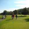 A view of a tee at Cliftondale Country Club
