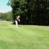A view of a tee at Lake of the Woods Country Club