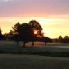 A view of a tee at Quinton Oaks Golf Course.