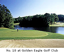No. 18 at Golden Eagle Golf Club